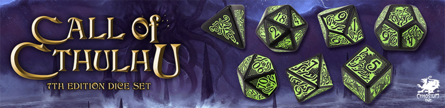 Shop Dark Horse Hobbies for Call of Cthulu Dice Sets by Q-Workshop - Today!