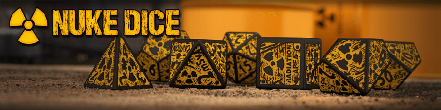 Shop Dark Horse Hobbies for Nuke Dice Sets by Q-Workshop - Today!
