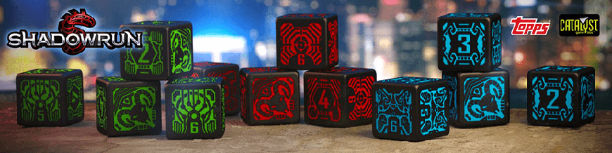 Shop Dark Horse Hobbies for Shadowrun Dice Sets by Q-Workshop - Today!