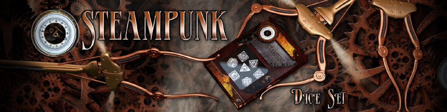 Shop Dark Horse Hobbies for Steampunk Dice Sets by Q-Workshop - Today!