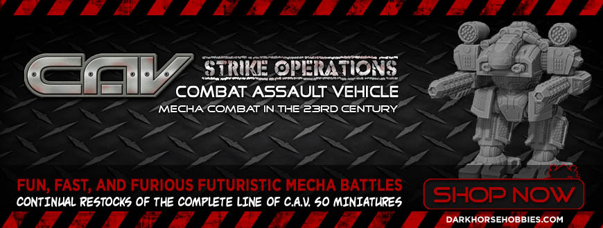 C.A.V. Combat Assault Vehicle - Strike Operations: 10mm Scale Sci-Fi Mecha Tabletop Miniatures Game